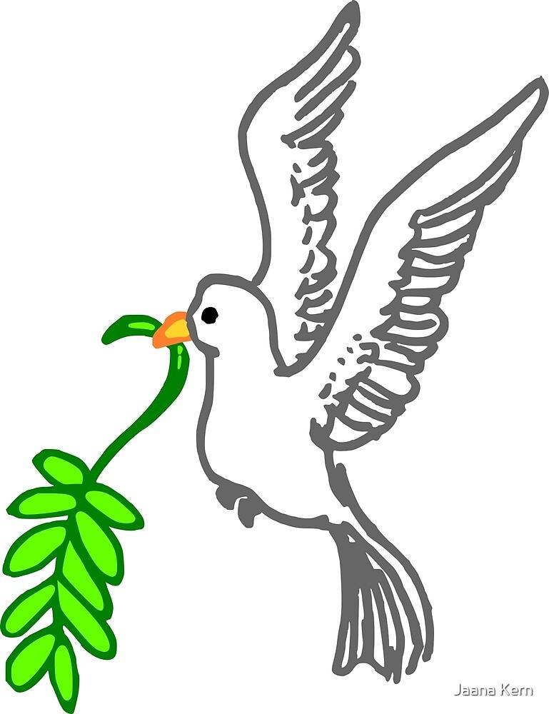Dove of peace drawn by Jaana Kern