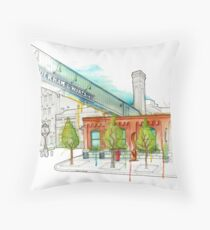 Distillery District Watercolour Throw Pillow
