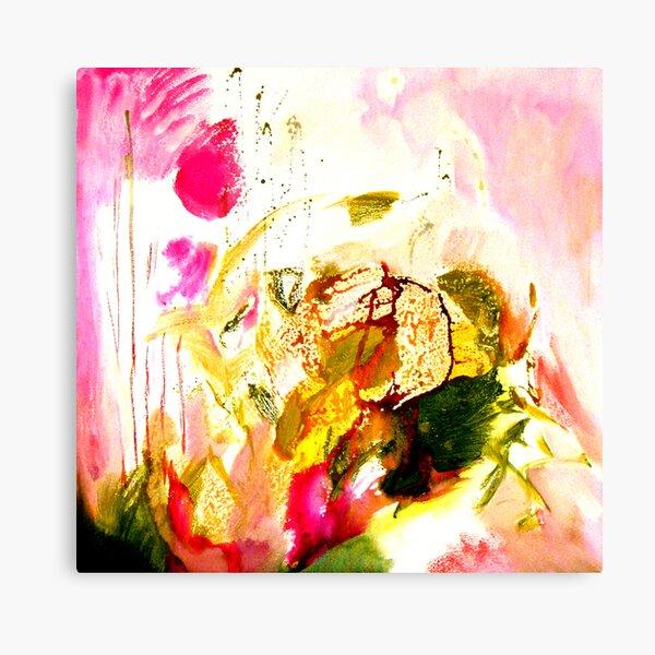 green leaves, pink feelings Canvas Print