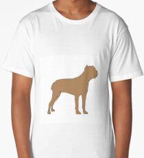 cane corso color silhouette Long T-Shirt