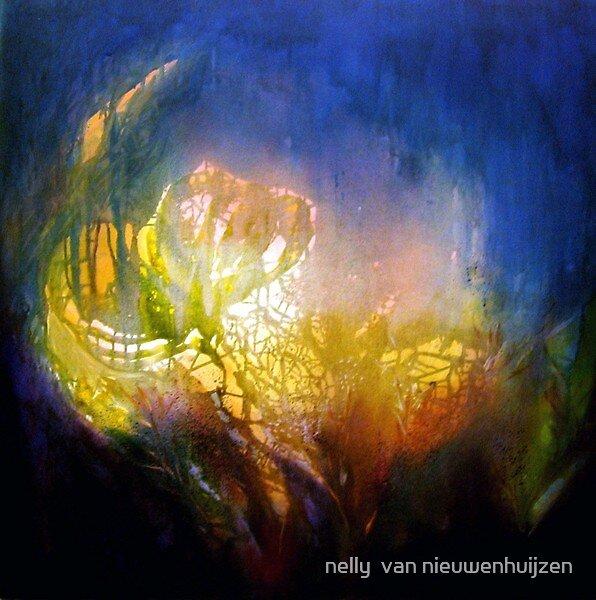 brilliance in a watergarden by nelly  van nieuwenhuijzen