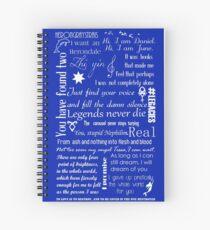Multi Fandom Spiral Notebook