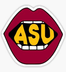 ASU Lips Sticker