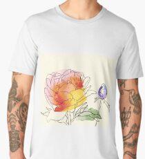 peony flowers Men's Premium T-Shirt