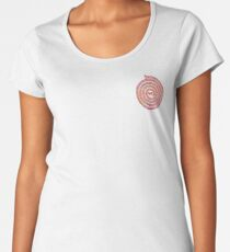 Psychedelic Warli Spiral Women's Premium T-Shirt