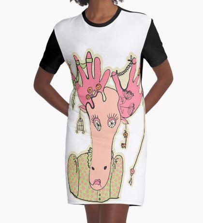Elch T-Shirt Kleid