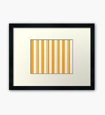 Dapper Dans - Yellow Framed Print