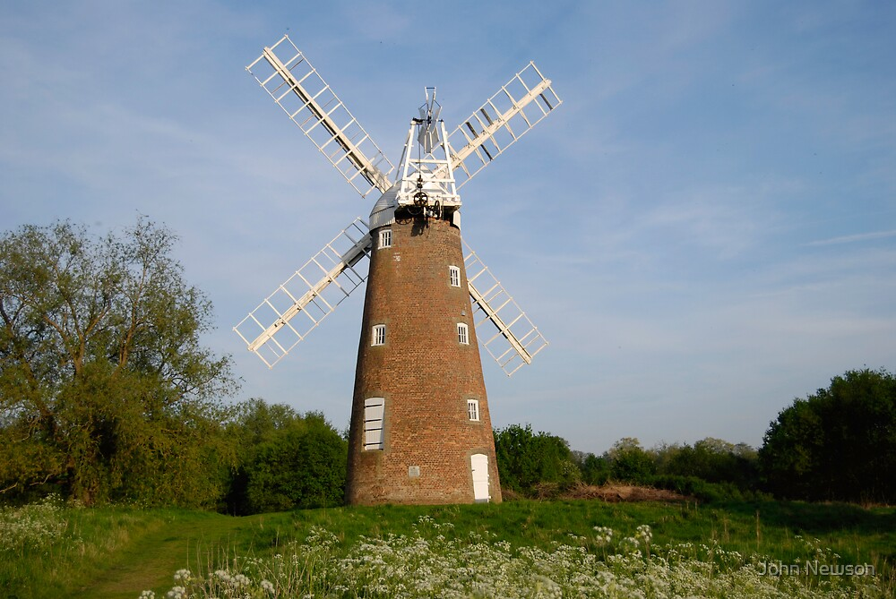 Dickleburgh And Ruchall windmill by John Newson