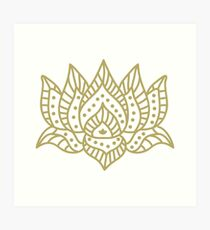 hindu lotus Art Print