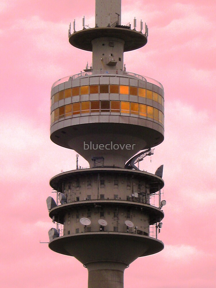 Tower in the Pink Sky by blueclover