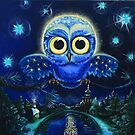 Images of Astrology: The Supermoon Owl by Natalia Lvova