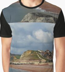 West Bay at Bridport in Dorset Graphic T-Shirt