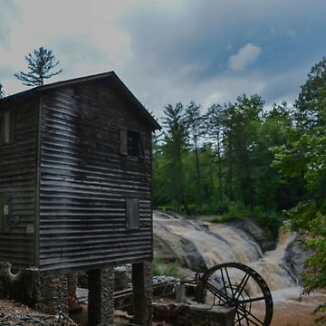 Old Mill House with Waterfall by salesgirl