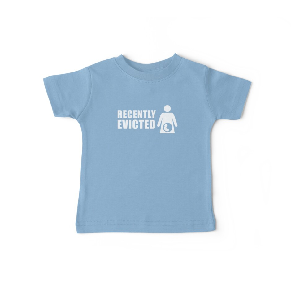 Recently Evicted (Blue) [Tshirts / iPad / Phone cases / Prints / Decor] by Damienne Bingham
