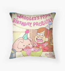 Waddles's Birthday Probably portrait replica Throw Pillow