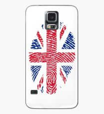 Fingerprint - United Kingdom Flag  Case/Skin for Samsung Galaxy