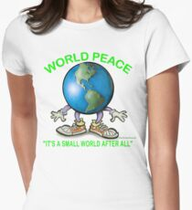 World Peace Womens Fitted T-Shirt