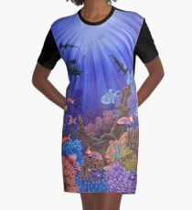 Underwater coral reef Graphic T-Shirt Dress