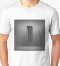 Black Boxing Bags Isolated on Grey Background T-Shirt