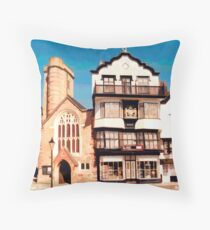 Mol's Coffee House, Exeter (View) Throw Pillow