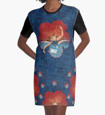 Flower Hawaii Pele Graphic T-Shirt Dress