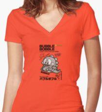Bubble Bobble Famicom Women's Fitted V-Neck T-Shirt