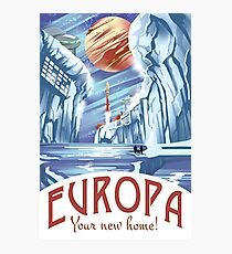 Visit Europa Space Travel Style  Photographic Print