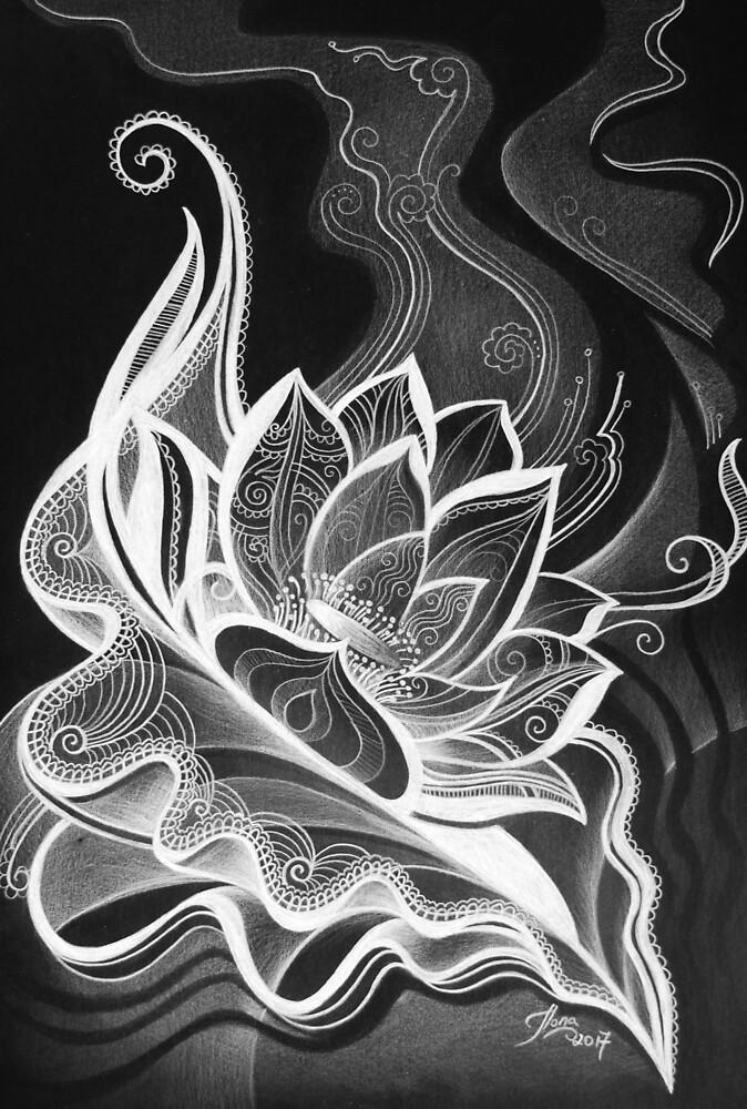 Lotus Opening by Ilona Ciunaite