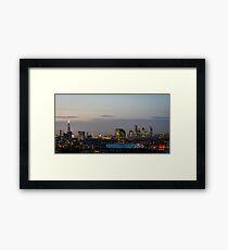 London, skyline from Greenwich Framed Print