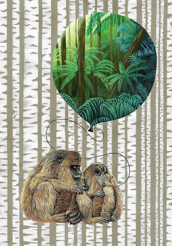 Balloon Monkey dream by Ruta Dumalakaite