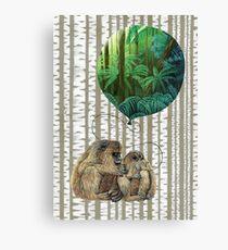 Balloon Monkey dream Canvas Print