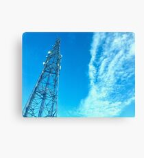 Clouds + Tower Canvas Print