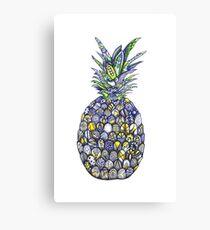 Unique detailed tropical pineapple Canvas Print