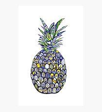 Unique detailed tropical pineapple Photographic Print