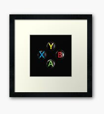 Xbox One Premium Buttons Framed Print
