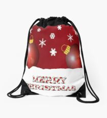 Merry Christmas Ornaments With Snowflakes  Drawstring Bag