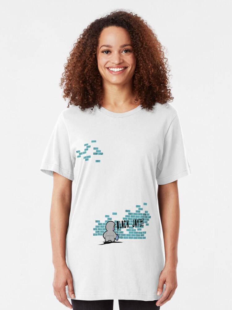 Alternate view of Black Jay Films  T-shirt 002 Slim Fit T-Shirt