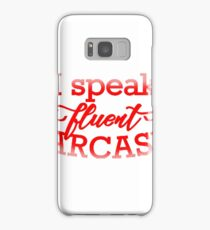 Fluent Sarcasm Samsung Galaxy Case/Skin