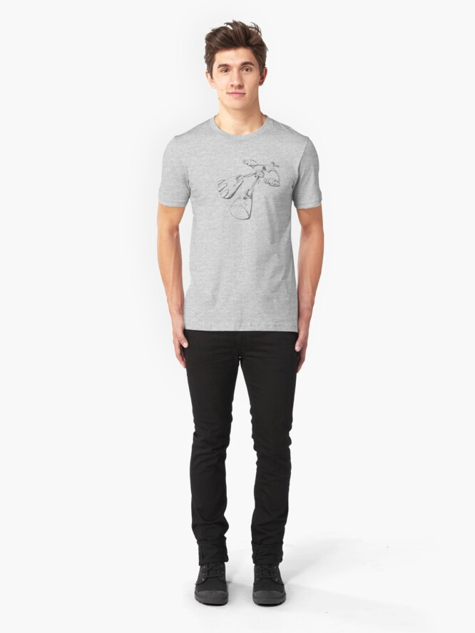 Alternate view of Black Jay Films  T-shirt 003 Slim Fit T-Shirt