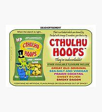 Cthulhu Hoops Photographic Print
