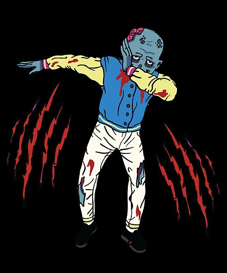 dabb dance. dabbing zombie shirt funny halloween dab dance pose t-shirt by bcclothing2k17 dabb