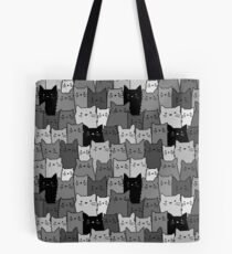 Silent Cats Monochromatic Tote Bag