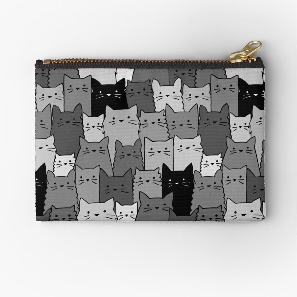 Stille Katzen einfarbig Täschchen