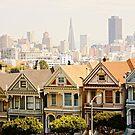 Painted Ladies - Steiner St., San Francisco, California by Buckwhite