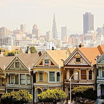 Painted Ladies - Steiner St., San Francisco, California by Buckwhite