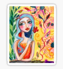 Girl in the Garden 2 Sticker