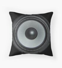 Black Speaker Throw Pillow