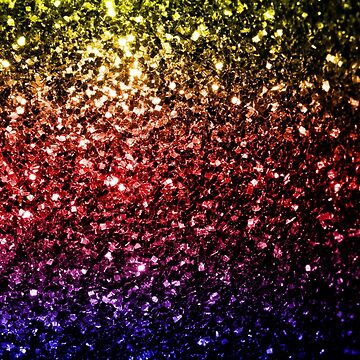 Beautiful rainbow yellow red purple sparkles by PLdesign