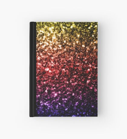 Beautiful rainbow yellow red purple sparkles Hardcover Journal