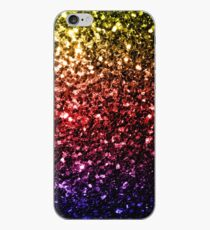Beautiful rainbow yellow red purple sparkles iPhone Case